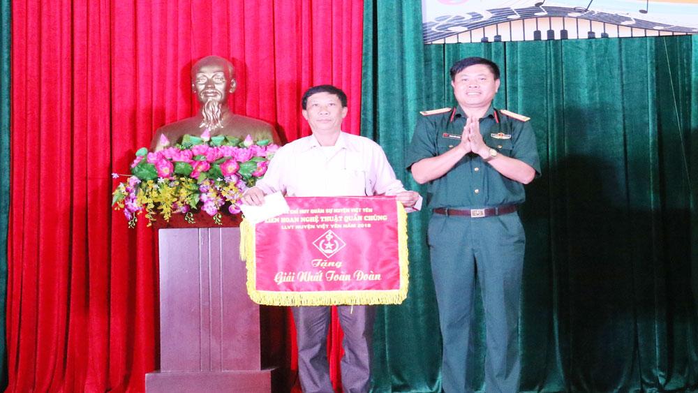 Liên hoan nghệ thuật quần chúng lực lượng vũ trang huyện Việt Yên
